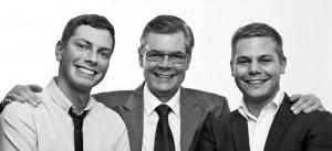 Gründerne av Sverige-Norge.se. Fra venstre Christian, Yngve og Viktor